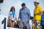 Rochelle Ballard, Agusto Moran and ISA President Fernando Aguerre. Credit:ISA/ Rommel Gonzales