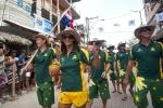 Layne Beachley and Team Australia. Credit: ISA / Rommel Gonzales
