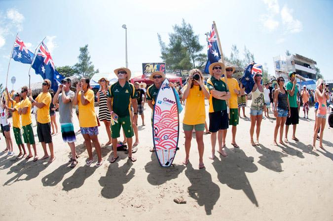 Equipo de Australia.. Credit:ISA/ Rommel Gonzales
